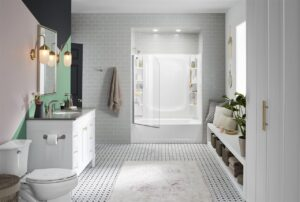 clean organized bathroom image - home inspection chicago